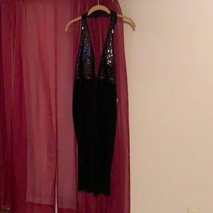 Club wear black dress